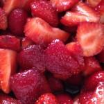 Strawberries with Balsamic Brown Sugar Glaze