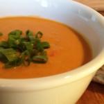 Red Lentil Coconut Curry Soup