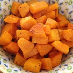 Roasted Butternut Squash with Olive Oil and Sea Salt